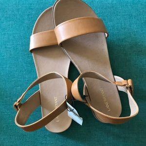 Tan Sandals.  Brand new, never worn.  Wide width.